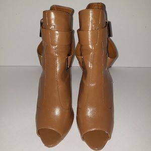 Women's Bakers peep toe boot heels